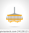 Field plowing flat color vector icon 24126121