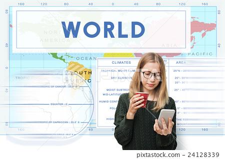 Longtitude Latitude World Cartography Concept 24128339