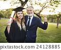 Graduation Celebration Success Certificate College Concept 24128885