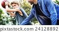 Coach Team Athlete Basketball Bounce Sport Concept 24128892