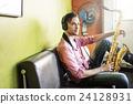 Alto Saxophone Artist Classical Jazz Musician Sax Concept 24128931