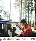 Camping Roadtrip Couple Direction Map Concept 24128998