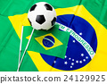 Brazil flag and soccer 24129925