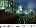 Industry factory at night 24130471