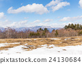 Winter landscape with blue sky 24130684