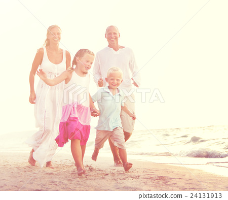Stock Photo: Summer Beach Family Fun Concept