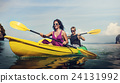 Kayaking Fun Activity Holiday Recreation Concept 24131992