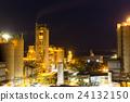 水泥 工厂 夜晚 24132150