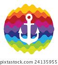 Sea Anchor Rainbow Color Icon for Mobile 24135955