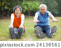 Senior healthy fitness couple 24136561
