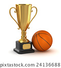 Golden cup and basketball 24136688