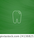 Tooth computer symbol 24136825