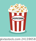 set of popcorn vector flat  design 24139658