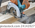Work with circular saws closeup 24142027