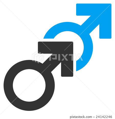 Gay Sex Flat Vector Icon 24142246