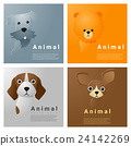 Animal portrait collection with dogs 1 24142269