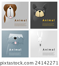 Animal portrait collection with dogs 3 24142271