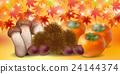 秋叶秋天食物背景 24144374