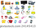 Set of household appliances and electronic devices 24145413