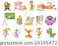 Vector set of animals illustrations. 24145472