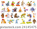 Vector set of animals sport illustrations. 24145475