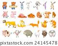 Vector set of animals illustrations. 24145478