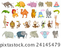 Vector set of animals illustrations. 24145479