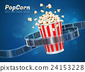 popcorn movie cinema object 24153228