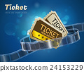 ticket movie cinema object 24153229