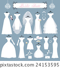 Wedding dresses,accessories set.Fashion flat 24153595