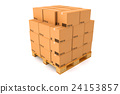 Cardboard boxes on white background. 24153857