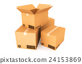Cardboard boxes on white background. 24153869