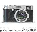 Vintage photo camera isolated on white. 24154831
