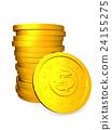 硬幣 黃金 金色 24155275