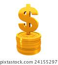 硬幣 黃金 金色 24155297