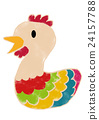 new year's card, domestic fowl, colorful 24157788