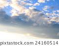 藍天,雲彩和鳥 24160514