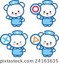 동물 간호사 귀여운 동물 간호사 곰 〇 × △ 발자국 24163635