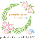 hibiscus flowers wreath 24169127
