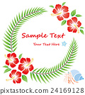 hibiscus flowers wreath 24169128