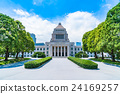 summer, national diet building, building 24169257