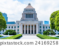 summer, national diet building, building 24169258