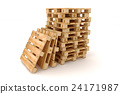 Stack of wooden pallets. 24171987