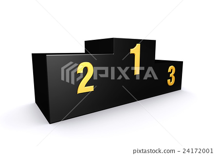 3D render empty winners podium. 24172001