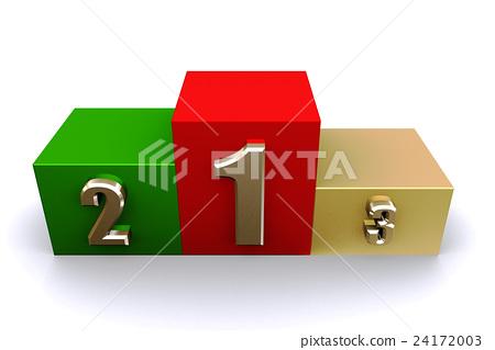 3D render empty winners podium. 24172003