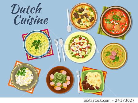 Dishes of dutch cuisine menu 24173027