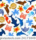 Oceanarium underwater animals and fishes 24173049