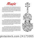 note, music, violin 24173065