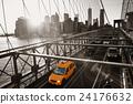 Brooklyn Bridge with traffic 24176632