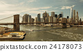Brooklyn Bridge and downtown Manhattan 24178073
